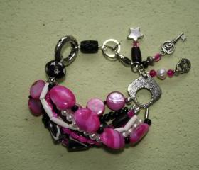 Bright Pink Bohemian Bracelet