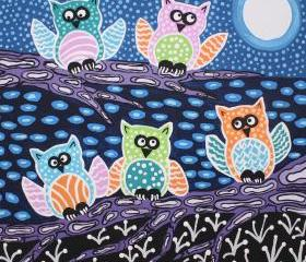 Owls In The Moonlight
